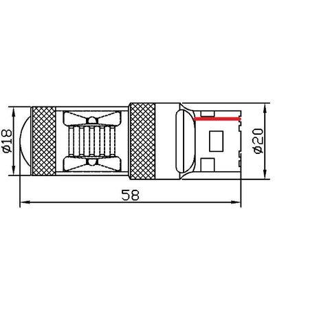LED лампа тормоза/заднего хода UP-7G-T20SWB-30W(7440) (белая, 12-24 В) Превью 1