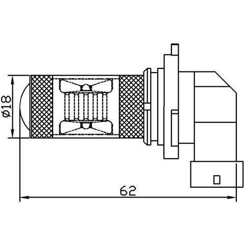 Протитуманна LED лампа UP-7G-9005WB(HB3)-30W (біла, 12-24 В) Прев'ю 1