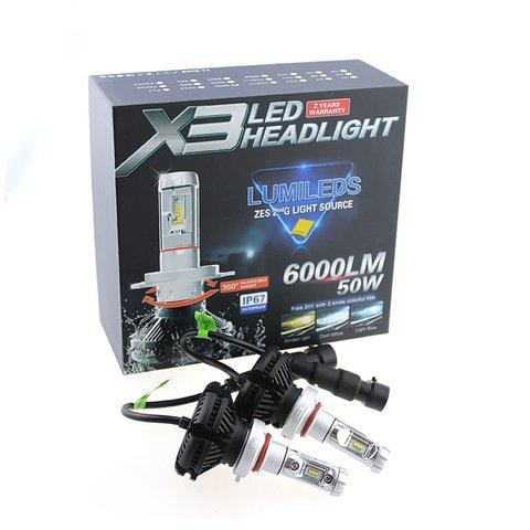 Набір світлодіодного головного світла UP-X3HL-9006W(HB4) (6000 лм) Прев'ю 2