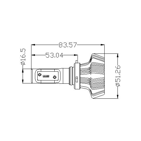 Набор светодиодного головного света UP-7HL-9005W-4000Lm (HB3, 4000 лм, холодный белый) - Просмотр 2