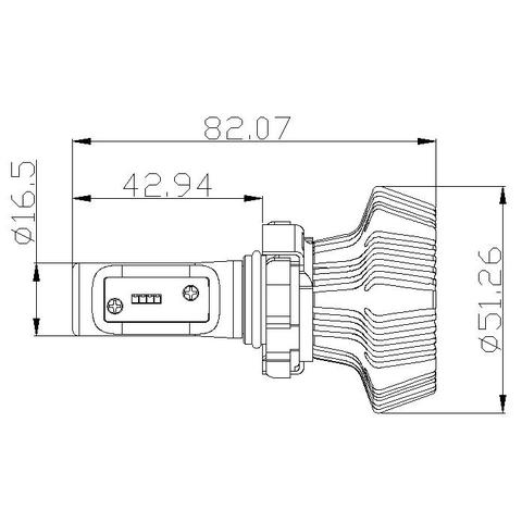 Набір світлодіодного головного світла UP-7HL-PSX24W-4000Lm (PSX24, 4000 лм, холодний білий) Прев'ю 4