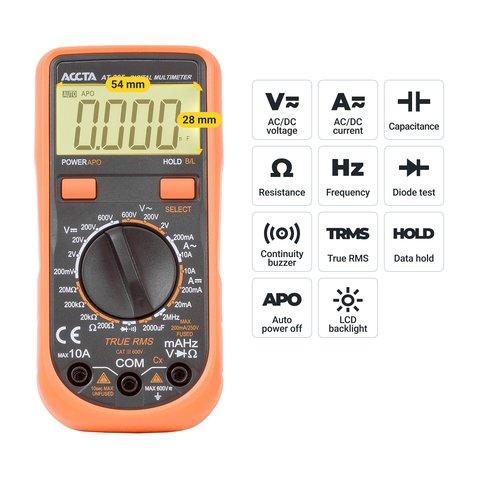 Цифровий мультиметр Accta AT-205 Прев'ю 2
