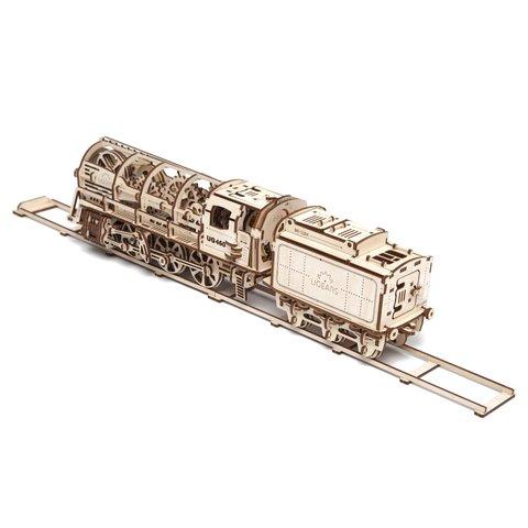 Механический 3D-пазл UGEARS Набор 3 в 1: Локомотив + Рельсы + Перрон - /*Photo|product*/
