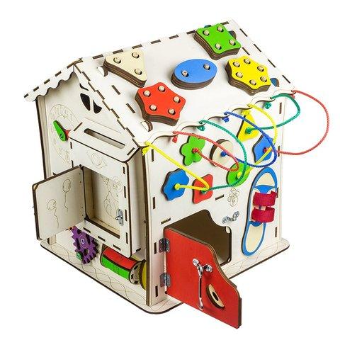 Бізіборд GoodPlay Будиночок для розвитку (30×30×40) Прев'ю 2